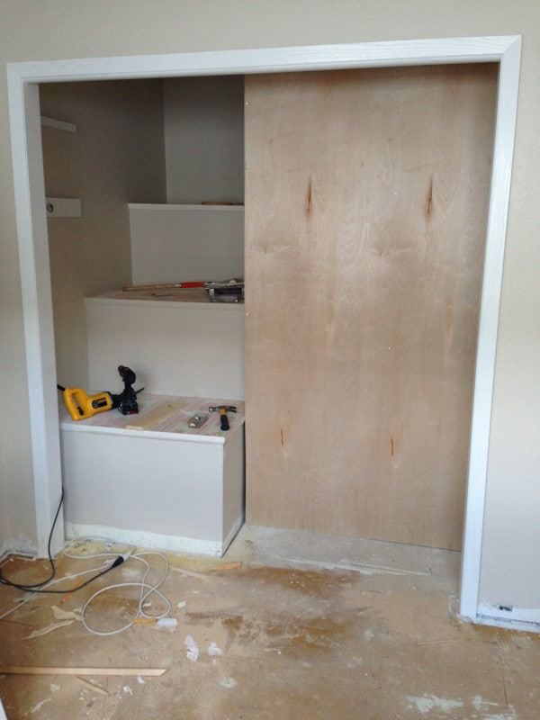 Building a Pantry into a Closet-9
