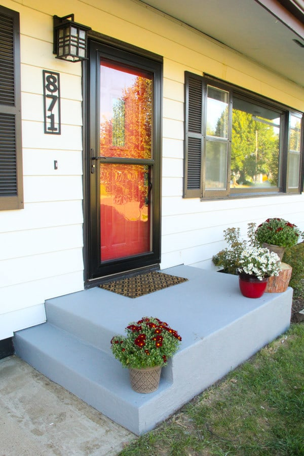 Painted Concrete Porch, Porch Update