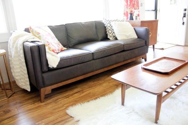 Bright Worthington Oxford Brown Sofa