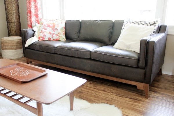 Leather Mid Century New Couch