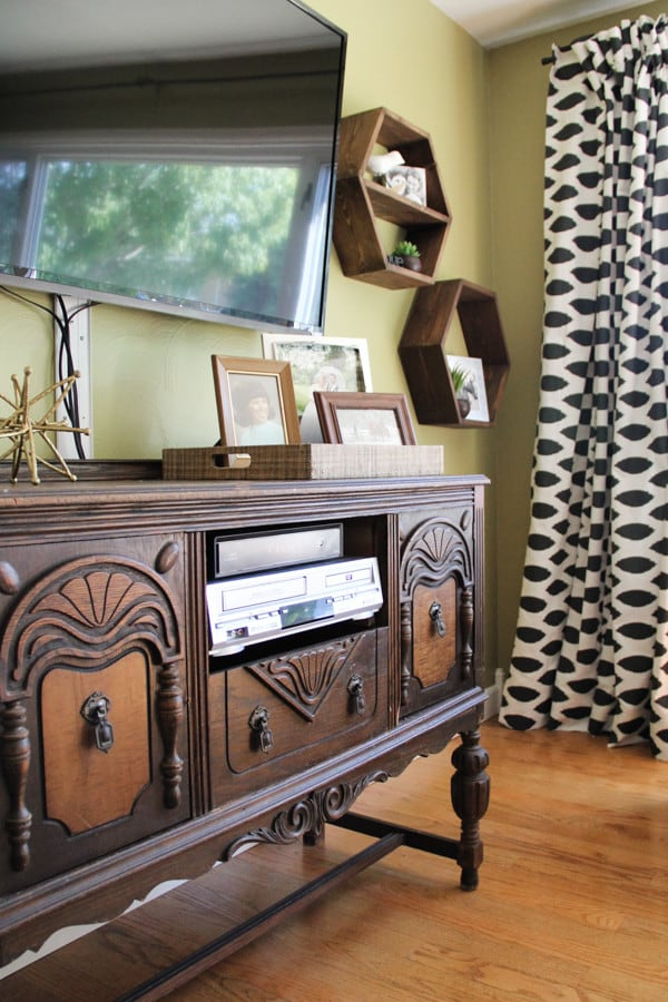 Vintage Buffet Used as TV Stand