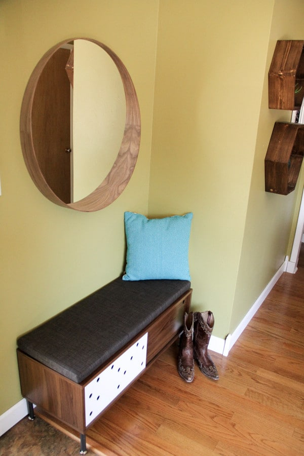 Modern Entry Space with Bench and Mirror