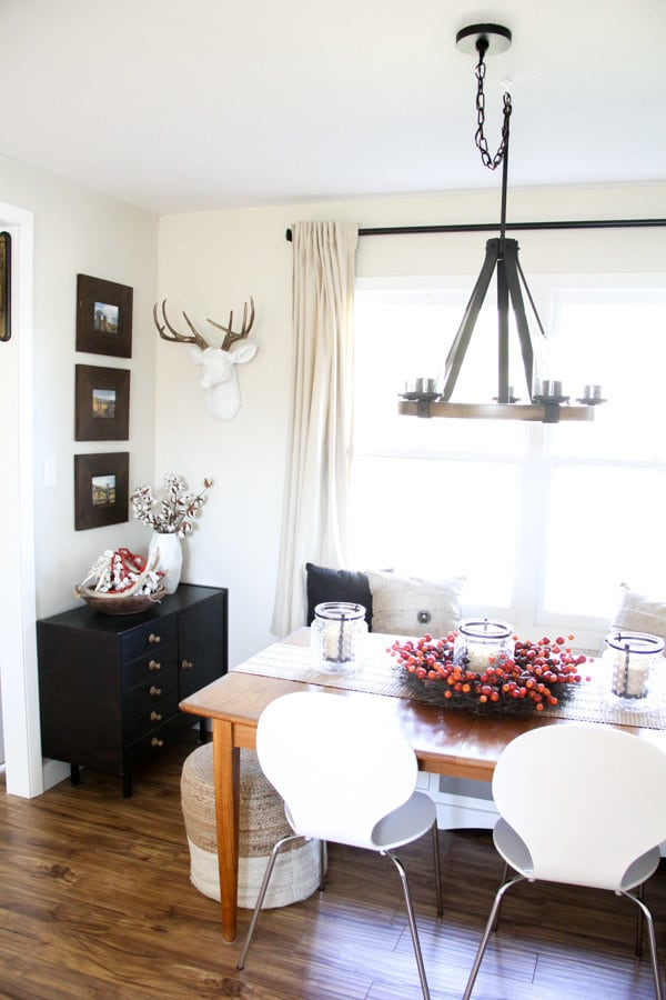 Modern Dining Room with Built In