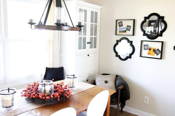 Modern Fall Dining Room
