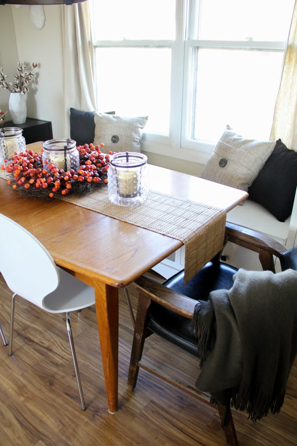 Mid Century Table in Modern Dining Room