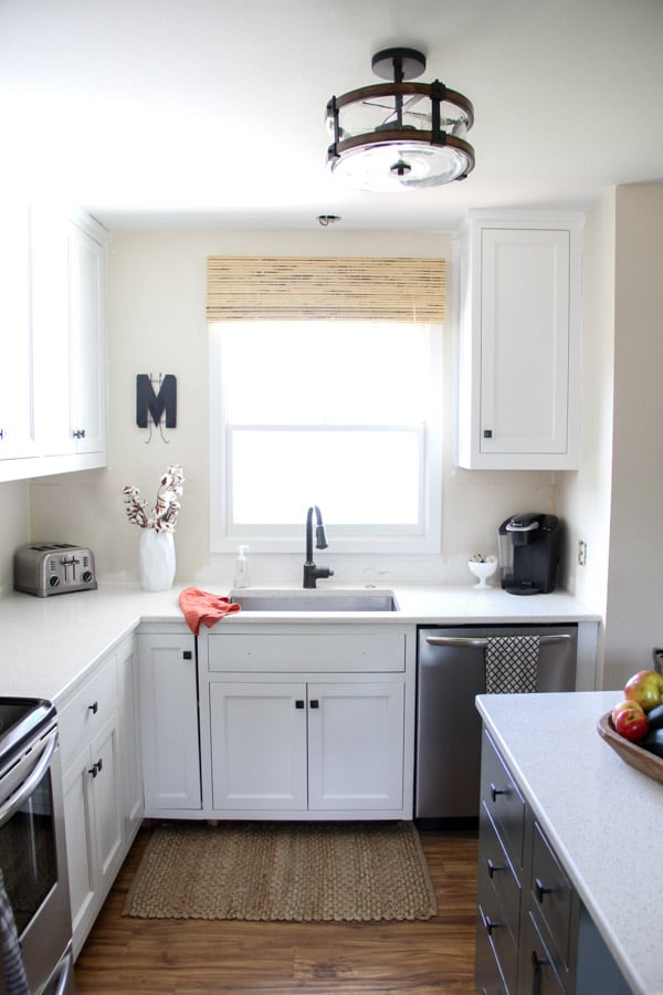 Remodel a kitchen on a budget for Brightly painted kitchen cabinets