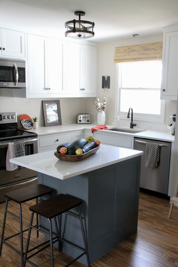 Two Tone Painted Kitchen Cabinets