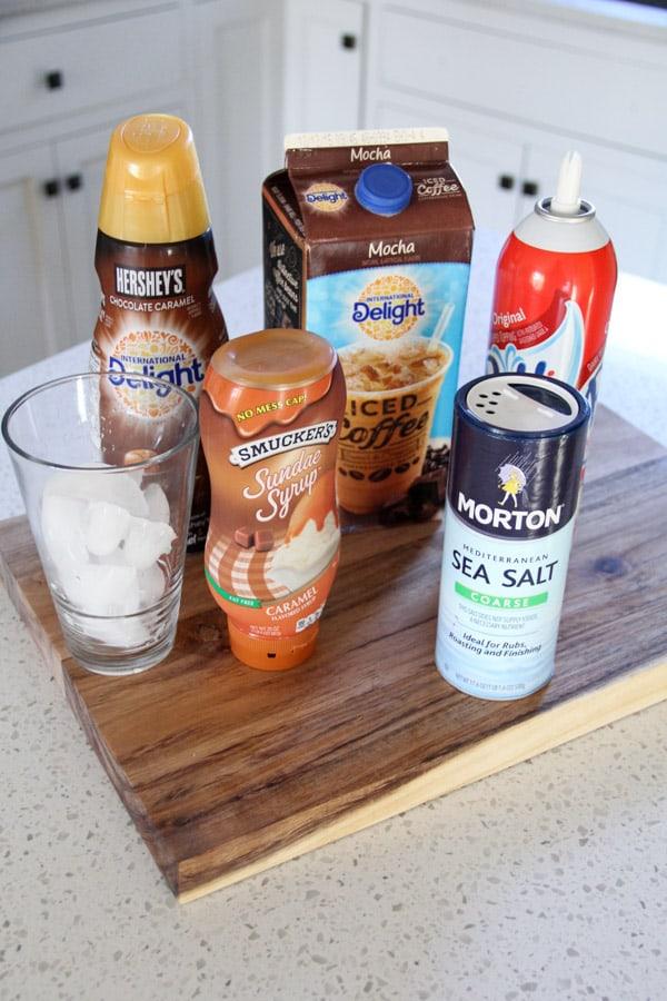 Recipe for Salted Caramel Iced Mocha