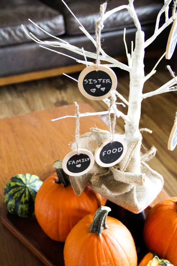 Fall Thankfulness Tree