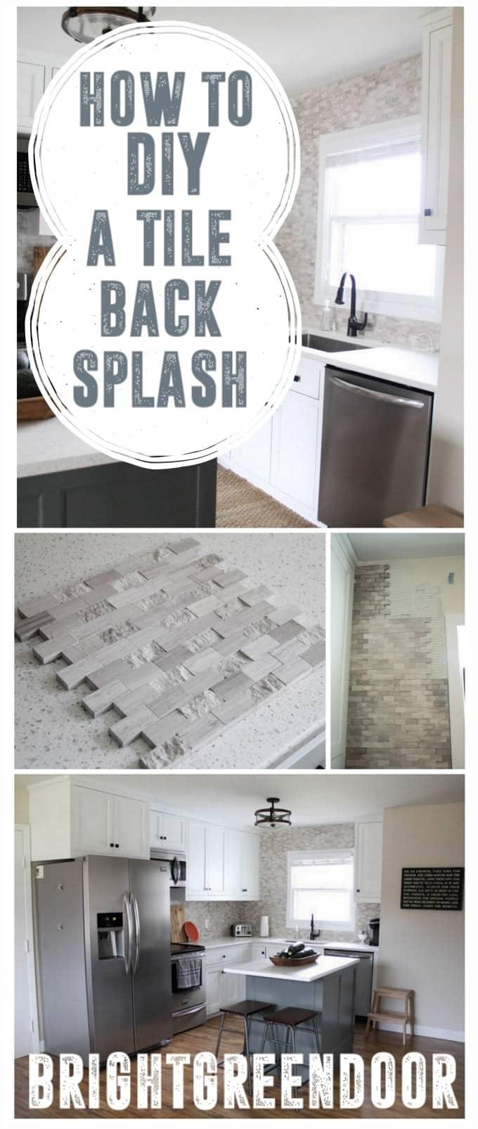 DIY a Tile Backsplash