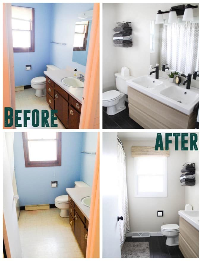 Affordable Modern Bathroom Remodel