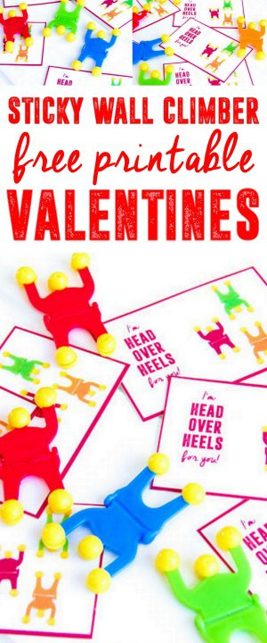 Sticky Wallclimber Free Printable Valentines