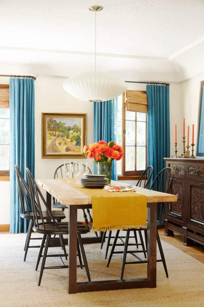 Windsor Chairs in Modern Dining Room