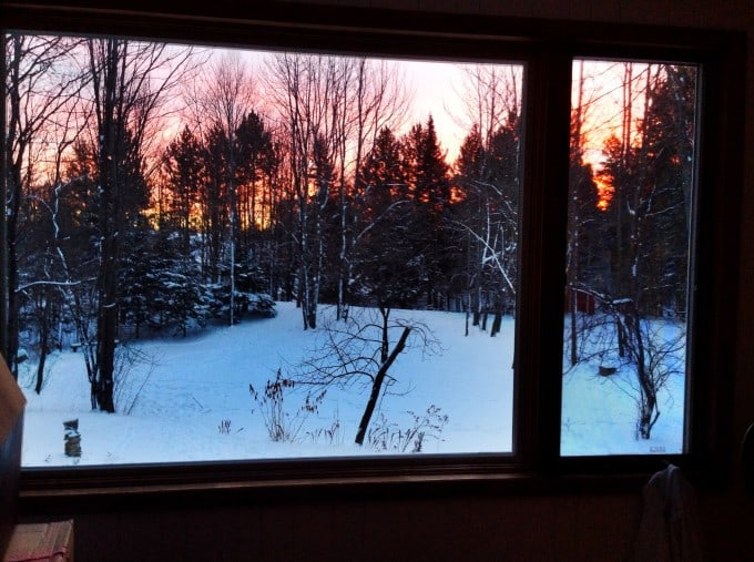 Sunrise Out Window