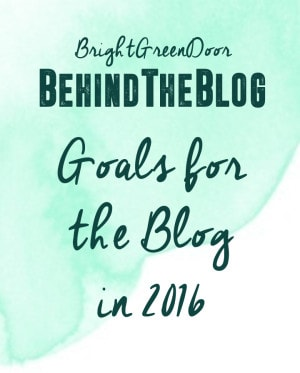 Goals for the Blog in 2016