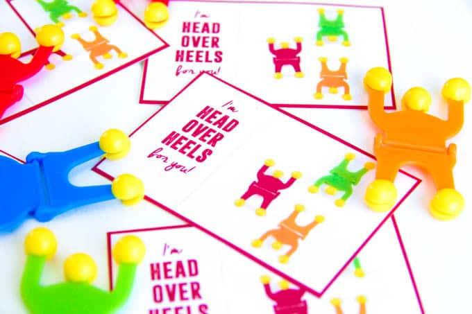 Sticky Wallclimber Free Printable Valentine