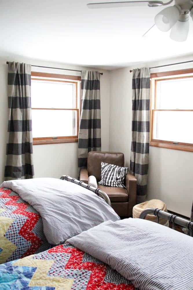 Striped Curtains in Boys Bedroom