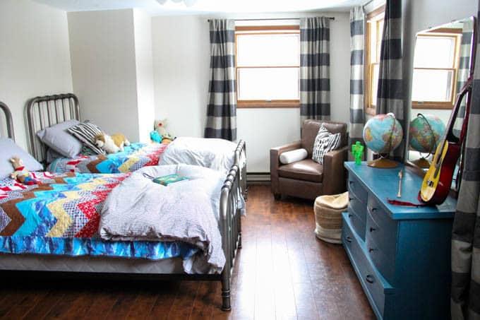 Shared Kids Room Neutral Modern Boys Room