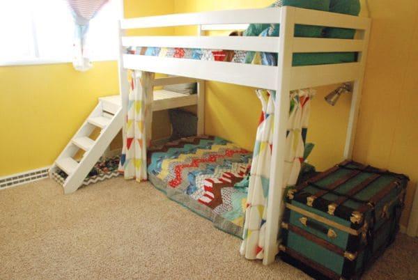 Yellow Bedroom with Jr. Loft Bunk Bed