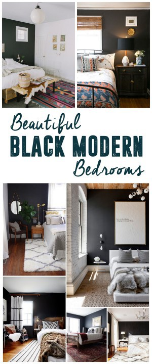 Beautiful Black Modern Bedrooms