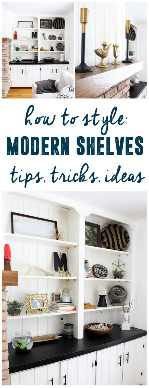 How to Style Modern Shelves