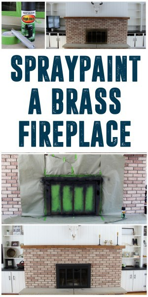 How To Spray Paint A Brass Fireplace Bright Green Door