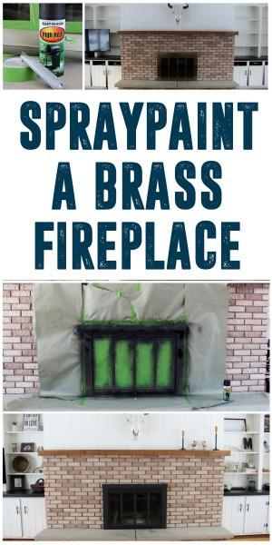 How to Spray Paint Brass Fireplace