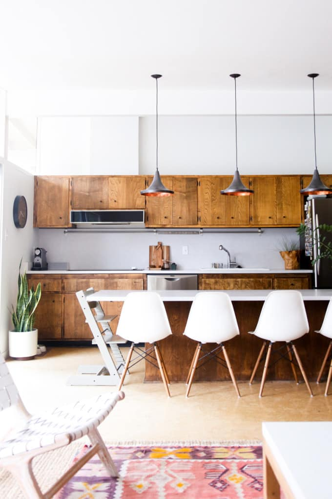MCM Kitchen with Wood Cabinets