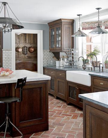 Unpainted Cabinets in Modern Kitchen