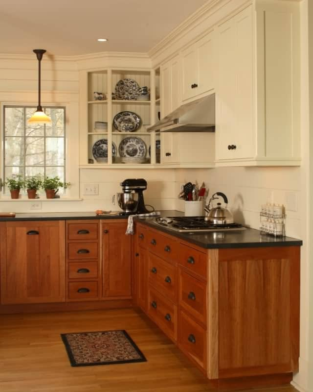 Updated Kitchen with Unpainted Cabinets