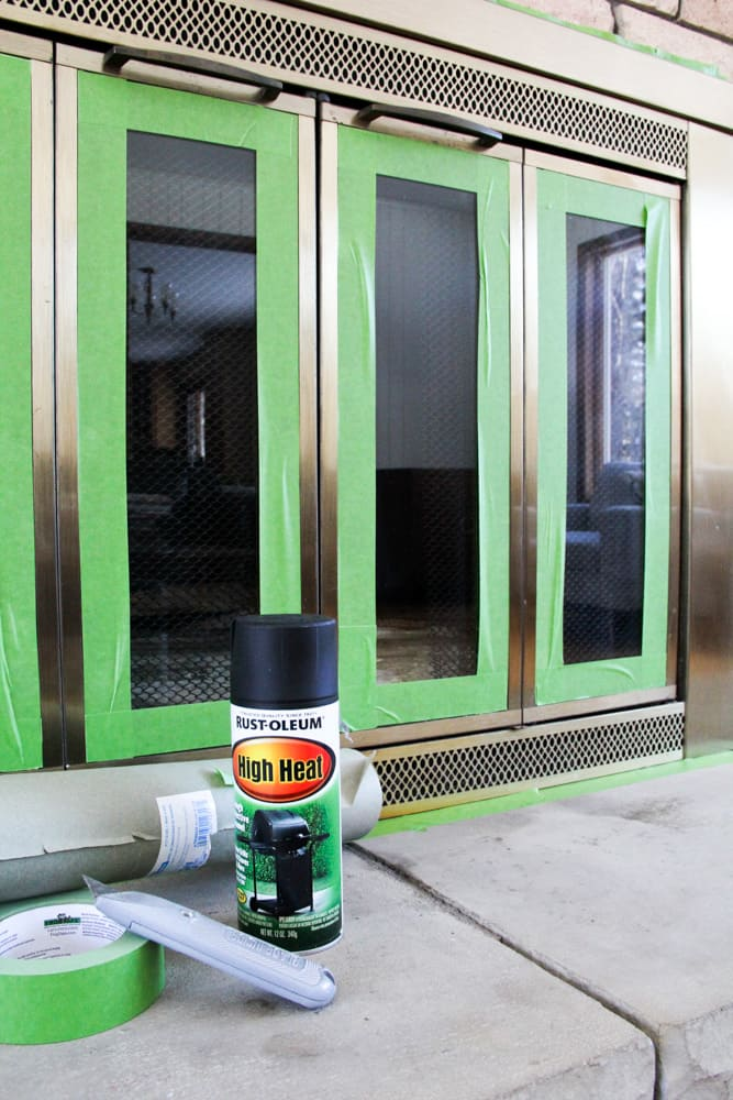 How to spray paint a brass fireplace bright green door how to paint a fireplace eventshaper