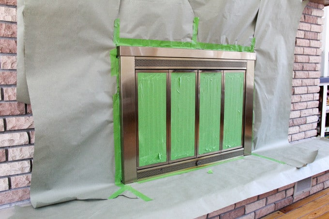 How to paint a gold fireplace