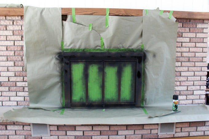 Paint a Brass Fireplace Black