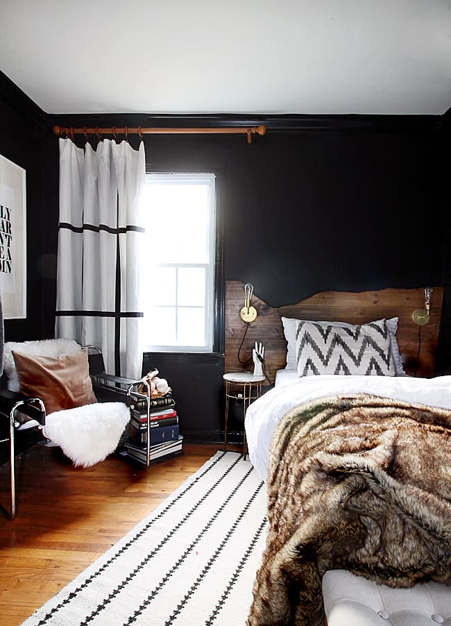 The Hunted Interior Black Bedroom