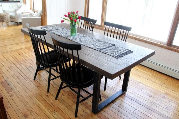 Modern Metal and Wood Table