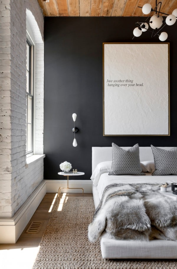 Interiors by Studio M Black Bedroom