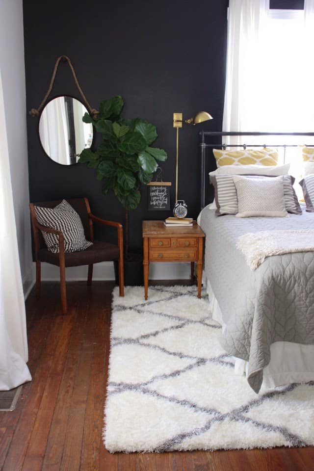 Lesley W Graham Black Bedroom