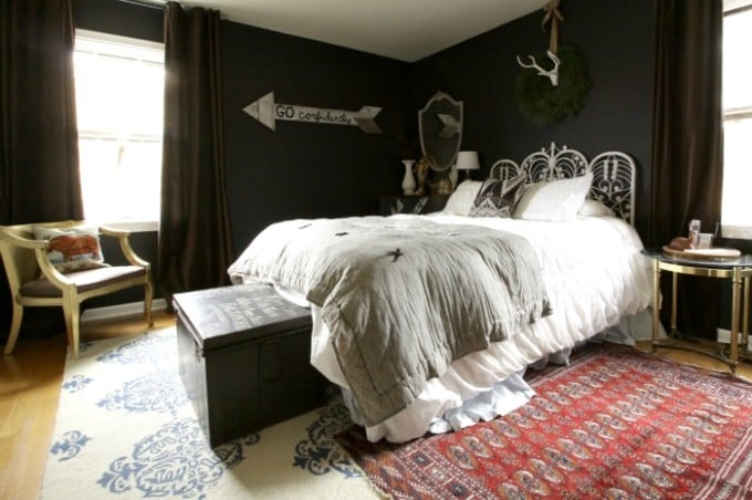 Primitive and Proper Black Bedroom