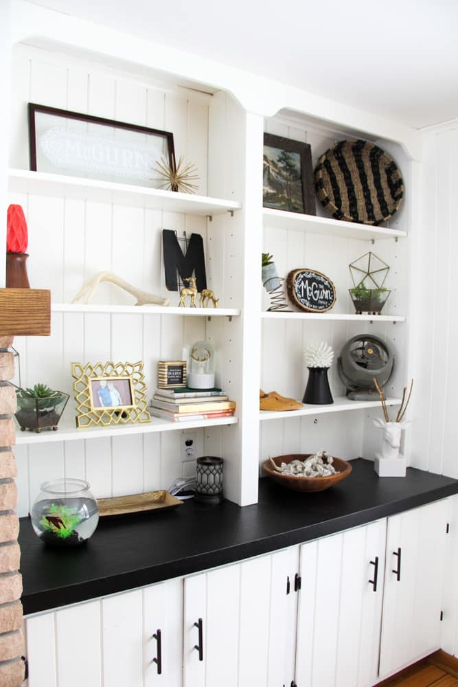 How to Style a Modern Shelf