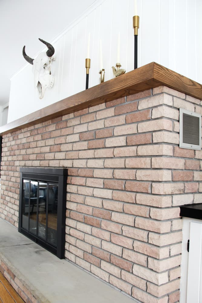 How to DIY Spray Paint a Fireplace