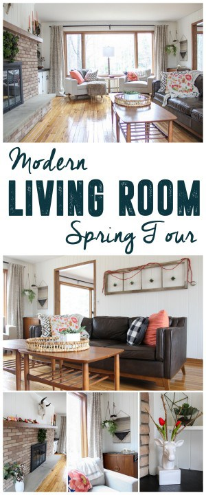 Modern Living Room Spring Tour