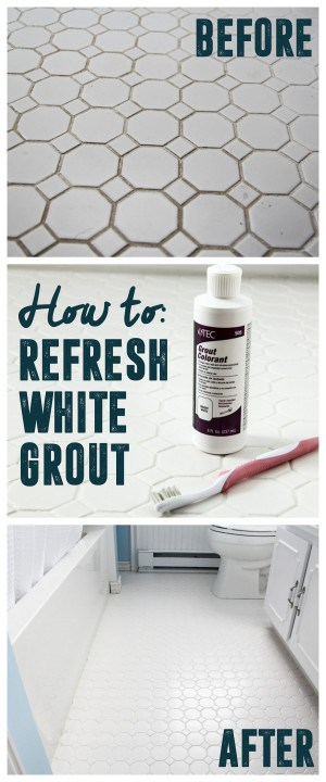 How to Get White Grout Clean - Bright Green Door