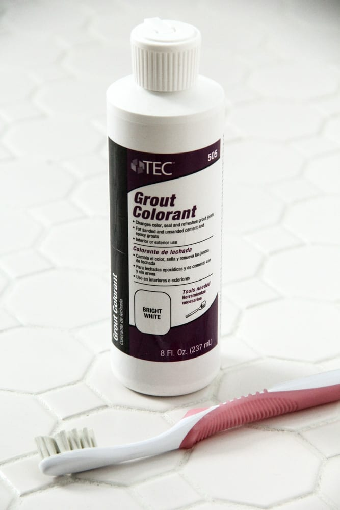 Grout Colorant to Refresh Tile