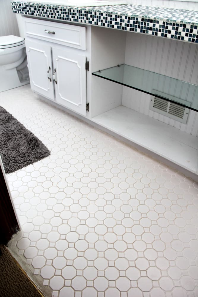 Dirty Grout Floors with White Grout