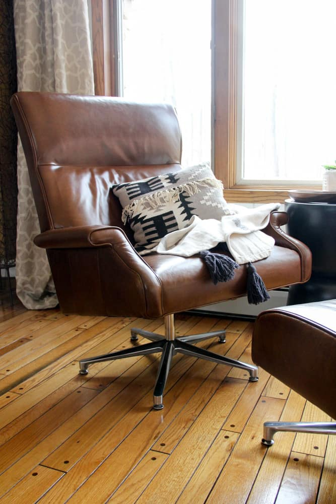 Brown Leather MCM Chair