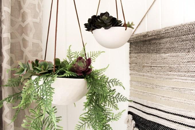 Modern Hanging Ceramic Planter