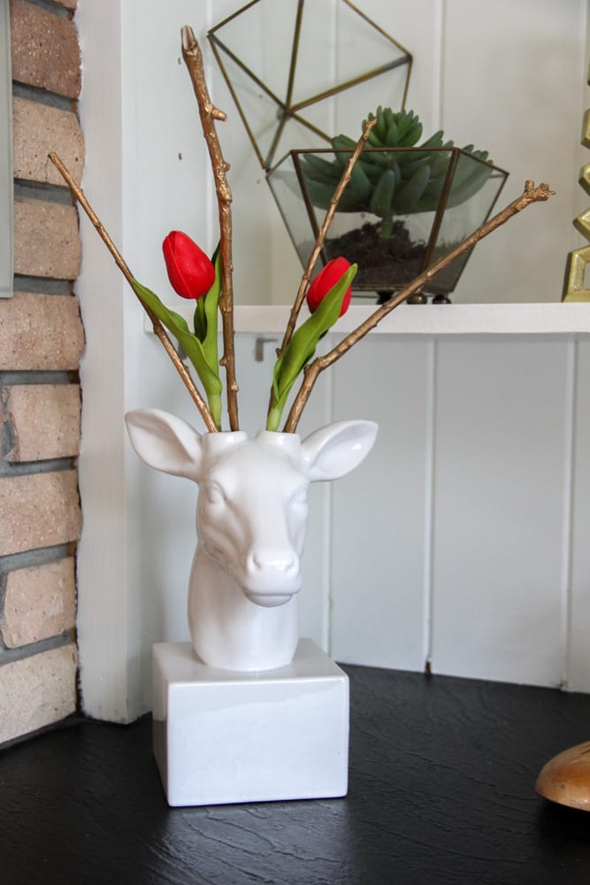Faux Taxidermy with Tulips