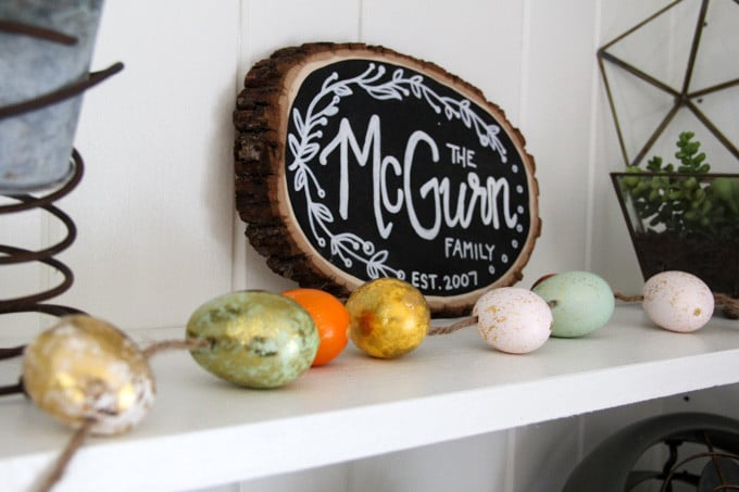 Egg Garland Spring Decor