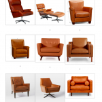 Camel Leather Armchairs