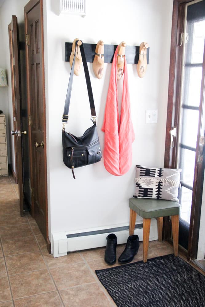 DIY Coat Hooks for a Small Entryway